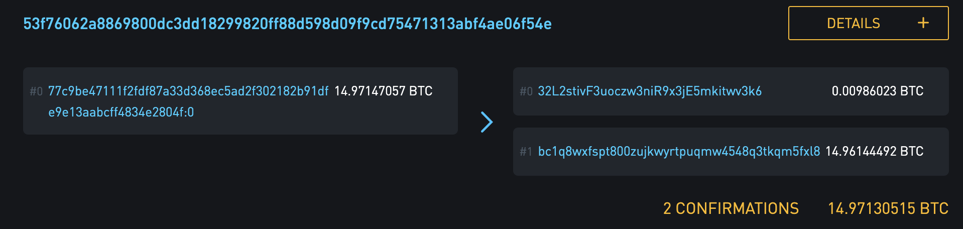 Coinbase uses bech32 for their change addresses, even when the send is going to non bech32.