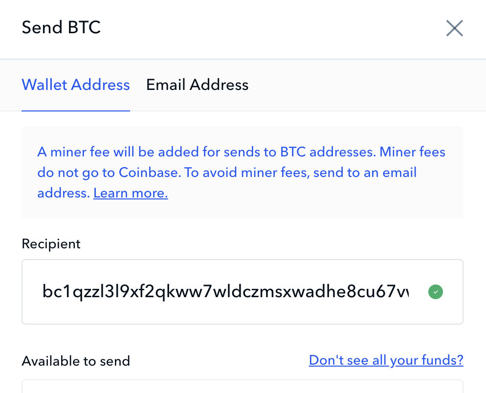 Coinbase allows sending to either wrapped or native segwit addresses. There is also visual validation of the address format.